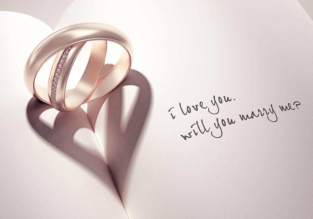 結婚指輪 ハート