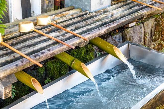 流水による浄化